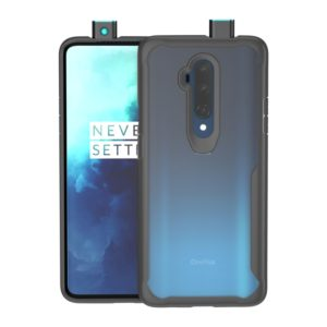 For OnePlus 7T Pro Transparent PC + TPU Full Coverage Shockproof Protective Case(Black)