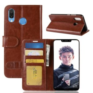 PU + TPU Crazy Horse Texture Horizontal Flip Leather Case for Huawei Honor Play, with Wallet & Holder & Card Slots (Brown)