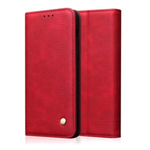 Casual Style Retro Crazy Horse Texture Horizontal Flip Leather Case for OnePlus 7, with Card Slots & Holder & Wallet (Red)