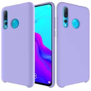 Solid Color Liquid Silicone Dropproof Protective Case for Huawei Nova 4(Purple)
