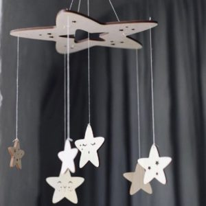 Wooden Five-star Wind Chime Pendant Crib Bell Home Decoration