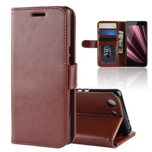 R64 Texture Single Fold Horizontal Flip Leather Case for Sony Xperia XZ4 Compact, with Holder & Wallet & Card Slots & Photo Frame (Brown)
