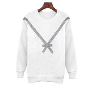 Personalized Loose Printed Sweatshirt (Color:White Size:M)