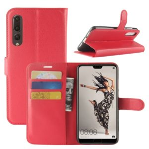 For Huawei P20 Pro Litchi Texture Horizontal Flip Leather Case with Wallet & Holder & Card Slots(Red)