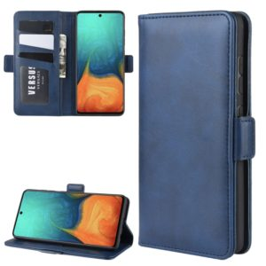 For Galaxy A71 Dual-side Magnetic Buckle Horizontal Flip Leather Case with Holder & Card Slots & Wallet(Dark Blue)