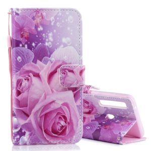 Rose Pattern Horizontal Flip Leather Case for Galaxy A9 (2018) / A9s, with Holder & Card Slots & Wallet