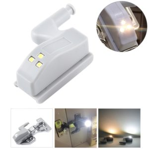 0.3W Universal Inner Hinge LED Sensor lamp Cupboard 3 LEDs Night light Auto ON/OFF Bulb(Warm White)