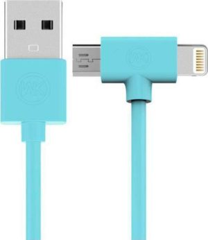 WK AXE WDC-008 Charging Cable 2 in 1 LIGHTING/MICRO USB 1M BLUE
