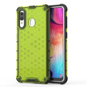Shockproof Honeycomb PC + TPU Case for Galaxy A30 (Green)
