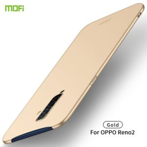 For OPPO Reno2 MOFI Frosted PC Ultra-thin Hard Case(Gold) (MOFI)