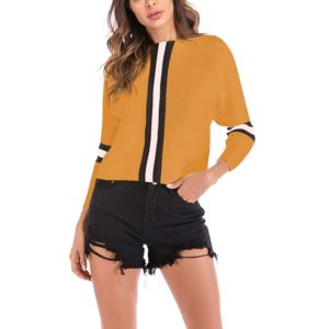 Autumn and Winter Retro Sweater (Color:Yellow Size:M)