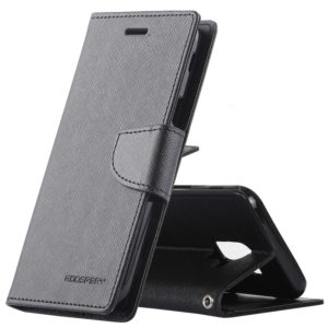 GOOSPERY FANCY DIARY Horizontal Flip Leather Case for Galaxy J6 (2018), with Holder & Card Slots & Wallet(Black) (GOOSPERY)