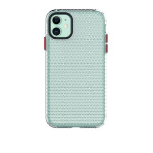 For iPhone 11 Honeycomb Shockproof TPU Case(Transparent)