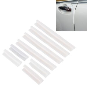FR JG-031 8 PCS Rubber Car Side Door Edge Protection Guards Cover Trims Stickers(White)