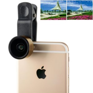 ZOMEI Universal 0.36X Wide Angle Lens with Clip, For iPhone, Samsung, HTC, Sony, Huawei, Xiaomi, Meizu(Gold) (ZOMEI)