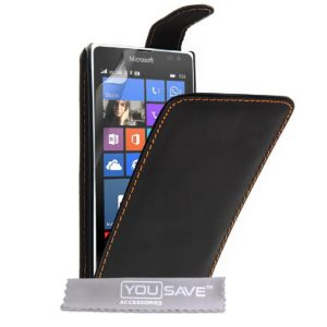 YouSave Accessories Θήκη για Microsoft Lumia 532 by YouSave Accessories μαύρη και δώρο screen protector