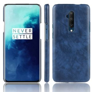 For OnePlus 7T Pro Shockproof Litchi Texture PC + PU Case(Blue)