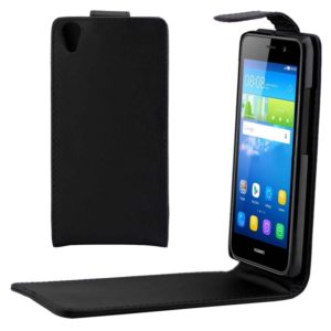 For Huawei Y6 Vertical Flip Magnetic Buckle PU Leather Case(Black)