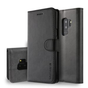 For Galaxy S9 Plus LC.IMEEKE Calf Texture Horizontal Flip Leather Case, with Holder & Card Slots & Wallet(Black) (LC.IMEEKE)