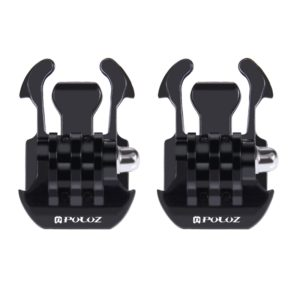 2 PCS PULUZ Horizontal Surface Quick Release Buckle for GoPro NEW HERO /HERO6 /5 /5 Session /4 Session /4 /3+ /3 /2 /1, Xiaoyi and Other Action Cameras (PULUZ)