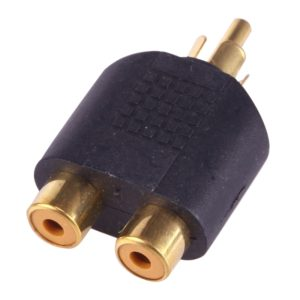 RCA plug to 2x RCA Sockets (Gold Plated)