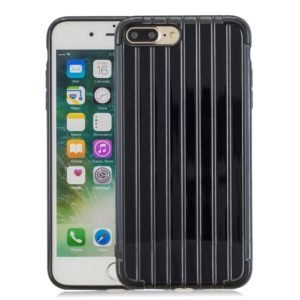 Suitcase Style Striped Soft TPU Case for iPhone 8 Plus & 7 Plus(Black)
