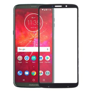 Front Screen Outer Glass Lens for Motorola Moto Z3 Play(Black)