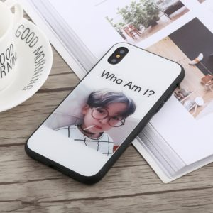 Who Am I? Pattern TPU + Tempered Glass Case For iPhone X / XS