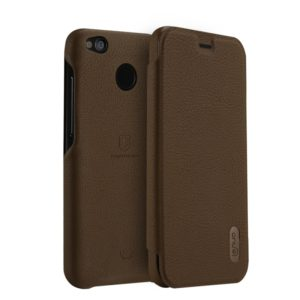 Lenuo for Xiaomi Redmi 4X PU+PC Litchi Texture Horizontal Flip Leather Case with Card Slots (Brown) (lenuo)
