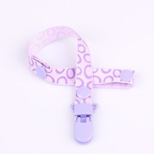 2 PCS Baby Pacifier Clip Pacifier Chain Dummy Clip Nipple Holder For Nipples Children Pacifier Clips Teether Anti-drop Rope(31 Purple half circle)