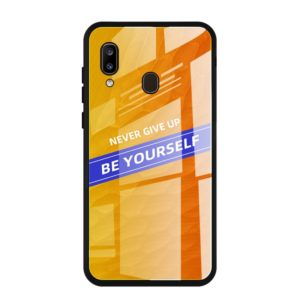 For Galaxy A20 Shockproof PC + TPU + Glass Protective Case(Yellow)
