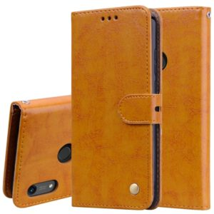 Business Style Oil Wax Texture Horizontal Flip Leather Case for Huawei Y6 (2019) / Honor 8A, with Holder & Card Slots & Wallet (Brown)