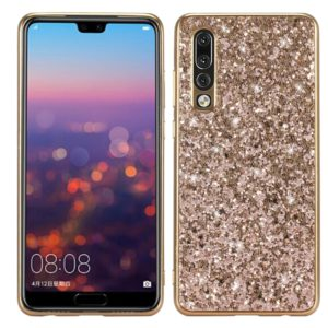 Glitter Powder Shockproof TPU Case for Huawei P30 (Gold)
