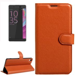 For Sony Xperia XA Ultra Litchi Texture Horizontal Flip Leather Case with Magnetic Buckle & Holder & Card Slots & Wallet(Brown)