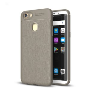 For OPPO F5 Litchi Texture TPU Protective Case(Grey)