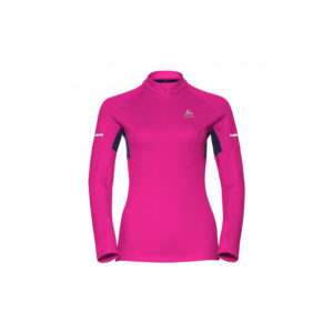 Odlo Midlayer 1/2 zip Omnius / Pink Glo - Peacoat / Women