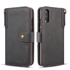Cowhide Texture Horizontal Flip Leather Case for Huawei P20 Pro, with Holder & Card Slots & Wallet & Sling (Black)