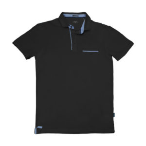 PS-224SVA Double Polo Jersey (μεγάλα μεγέθη) (black)