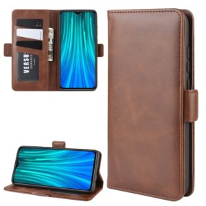 For Xiaomi Redmi Note 8 Pro Dual-side Magnetic Buckle Horizontal Flip Leather Case with Holder & Card Slots & Wallet & Photo Frame(Brown)
