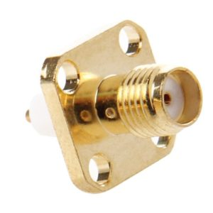 10 PCS Gold Plated SMA Female 4 Holes Chassis Panel Mount Extended Dielectric Solder Connector Adapter