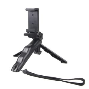 Portable Hand Grip / Mini Tripod Stand Steadicam Curve with Straight Clip for GoPro HERO 4 / 3 / 3+ / SJ4000 / SJ5000 / SJ6000 Sports DV / Digital Camera / iPhone , Galaxy and other Mobile Phone(Black)