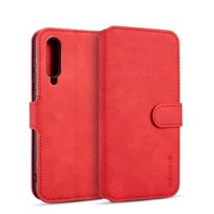 DG.MING Retro Oil Side Horizontal Flip Case for Galaxy A50, with Holder & Card Slots & Wallet (Red) (DG.MING)