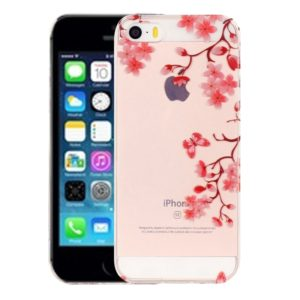 For iPhone 5 & 5s & SE Maple Leaves Pattern IMD Workmanship Soft TPU Protective Case