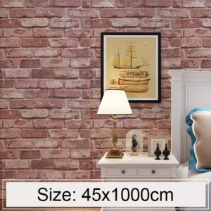 Brown Brick Creative 3D Stone Brick Decoration Wallpaper Stickers Bedroom Living Room Wall Waterproof Wallpaper Roll, Size: 45 x 1000cm