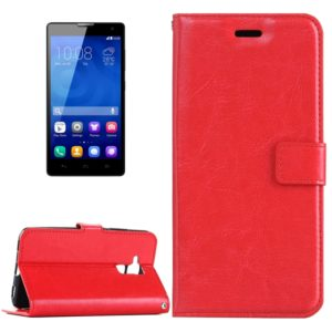 For Huawei Honor 5c Crazy Horse Texture Horizontal Flip Leather Case with Magnetic Buckle & Holder & Card Slots & Wallet & Photo Frame(Red)
