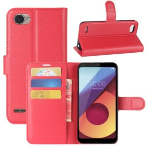For LG Q6 Litchi Texture Horizontal Flip Leather Case with Holder & Card Slots & Wallet (Red)