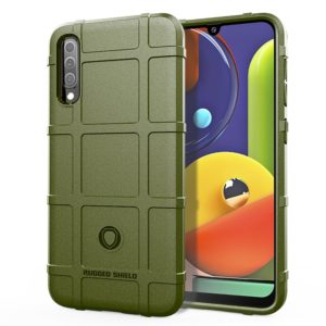 Full Coverage Shockproof TPU Case for Galaxy A50s(Army Green)