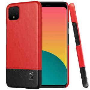 IMAK Ruiyi Series Concise Slim PU + PC Protective Case For Google Pixel 4XL(Black+Red) (imak)