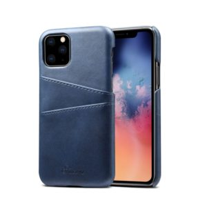 Suteni Calf Texture Back Cover Protective Case with Card Slots for iPhone 11(Blue)