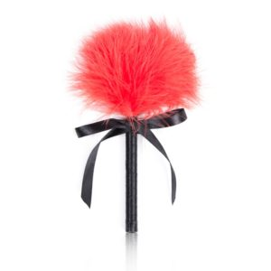 FunAdd Feather Flirting Whip Soft Slave Flogger for Couple, Length: 10cm (Red) (FunAdd)